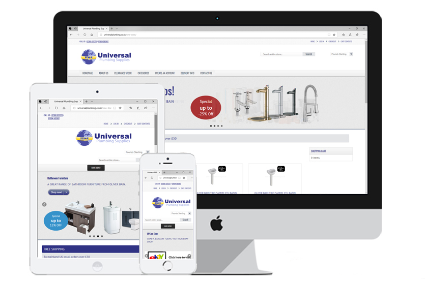 Local Web Design Agency - Universal Plumbing Supplies